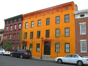 Orange Building - 200 block Warren St Hudson NY