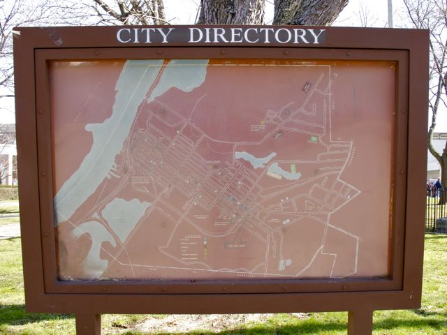 April 2, 2010 city map Hudson NY
