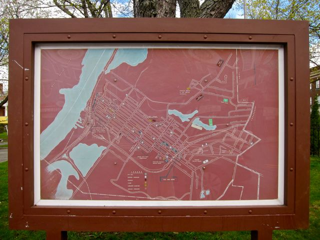 April 24, 2011 city map Hudson NY