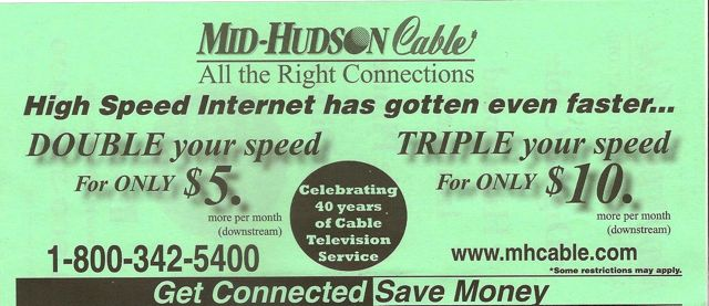 Mid Hudson Cable Internet Offer