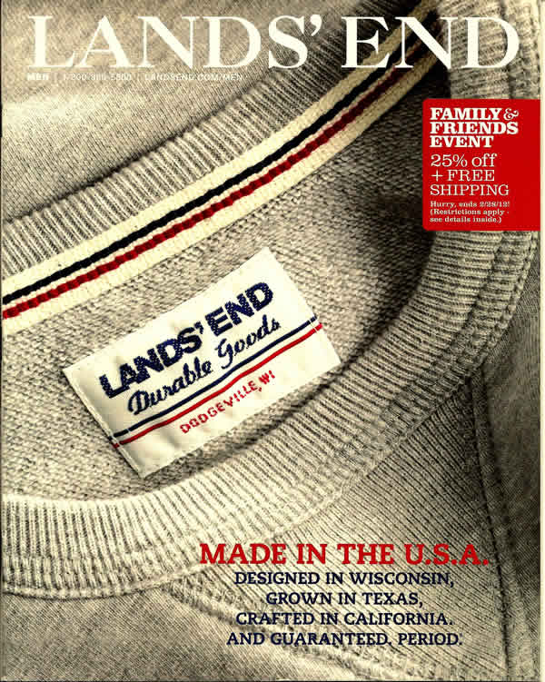 LandsEnd Made-in-USA catalog February 2012