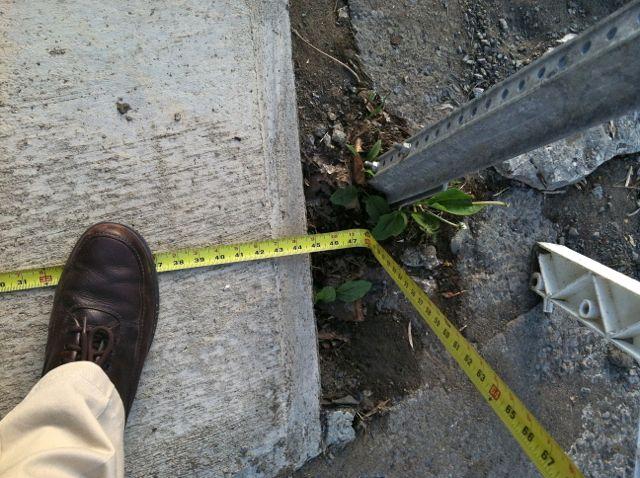 sidewalk width Prospect Ave Hudson NY