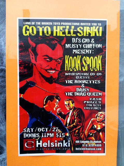 243 Warren St Hudson NY Halloween poster