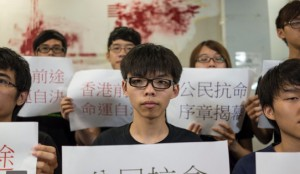 HK students protesting election laws