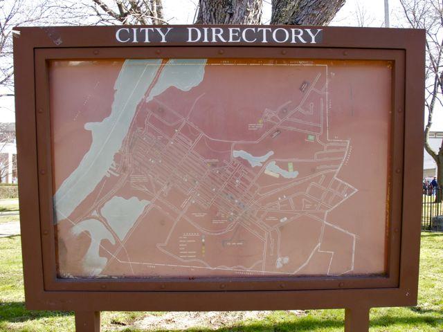 April 2, 2010 city map Hudson NY