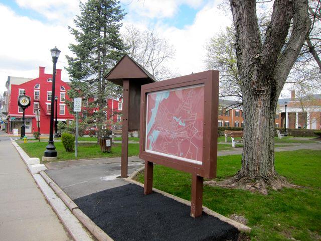April 21, 2011 signs upright Hudson NY