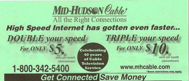 Mid Hudson Cable Internet Offer