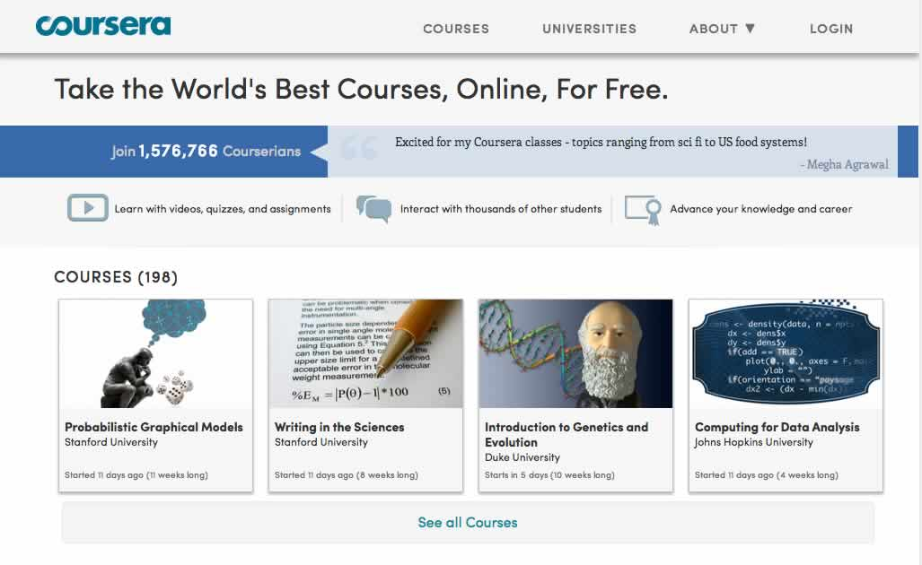 Coursera online courses