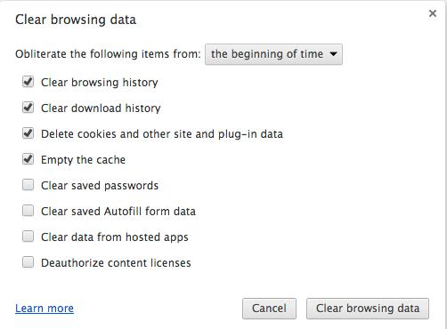 Google-clear-history settings pane